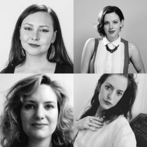 Clockwise from the top: Liz Howard, Domenica Martinello, Lauren Turner, Kasia Juno