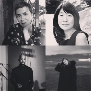 Clockwise from top left: Oana Avasilichioaei, Madeleine Thien, Alisha Dukelow, Kaie Kellough