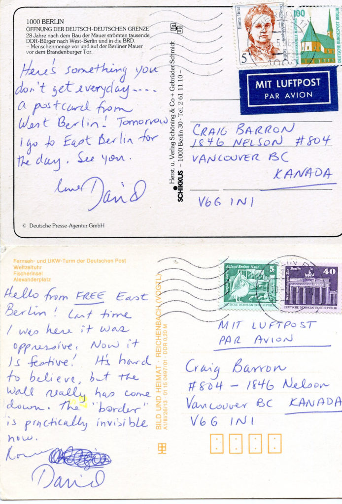 Postcard Back-David's House